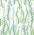 Seaweed on a white background Seamless pattern of vector image