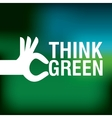think green label icon vector image