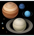 Isometric High quality isometric solar system vector image