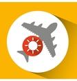 plane travel weather forecast sun icon vector image