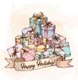 Gift Box Card vector image