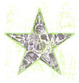 ink hand drawn veggies star vector image
