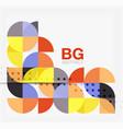modern elegant geometric circles abstract vector image