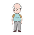 old man with hairstyle and casual clothes vector image