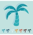 Flat design palm vector image