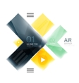 Color glossy glass arrow banner vector image