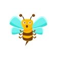 Confused Bee Mid Air With Sting Natural Honey vector image
