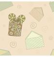 Retro holiday seamless pattern vector image