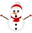 Surprised Snowman on a white background standing vector image