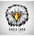American eagle head logo or bald eagles label vector image