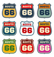route 66 vintage us highway emblems vector image