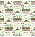 seed pattern agriculture background seamless vector image