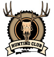 hunting club design vector image vector image