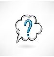 question cloud grunge icon vector image vector image