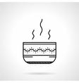 Soup bowl black line icon vector image