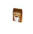 Coffee packet vector image