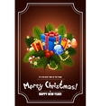 Christmas Greeting Card Lettering vector image