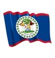 political waving flag of belize vector image
