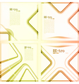retro backgrounds vector image vector image