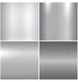 Metallic textures vector image