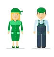 profession servise man and woman vector image