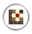Checkers icon in pattern vector image