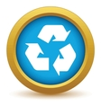 Gold recycling icon vector image