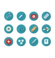 Medicine Icons Set Collection on Web Buttons vector image