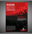 motorcycle tire banners 1-08 vector image