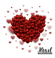 Red Soft and Smooth Valentine Hearts in white vector image