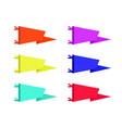 set of adventure pennants flags vector image