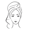 beauty woman with towel vector image