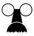 Clown face icon simple style vector image vector image