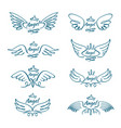 elegant angel flying wings hand drawn wing tattoo vector image vector image