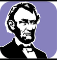 Abraham Lincoln vector image vector image