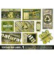 vintage bio labels collection set vector image vector image
