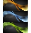 Bright glowing wavy banners vector image vector image