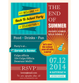 End of summer party poster or card design template vector image