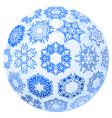 transparent Christmas ball with snowflakes vector image vector image