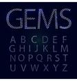 Gems alphabet All capital letters vector image