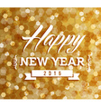 Happy new year 2016 blur lights background vector image vector image