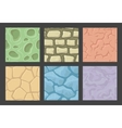 Ground seamless patterns set stone vector image