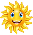 Cute smiling sun cartoon vector image
