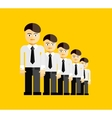 group of businessmen vector image