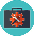 Technical support concept Flat design Icon in vector image