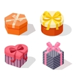 Isometric gift box icon isolated vector image
