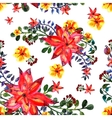 Floral seamless pattern White background texture vector image