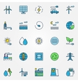 Colorful alternative energy icons vector image
