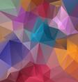 full spectrum pastel colored polygon triangular vector image vector image