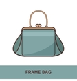 fashion bag isolated on white vector image